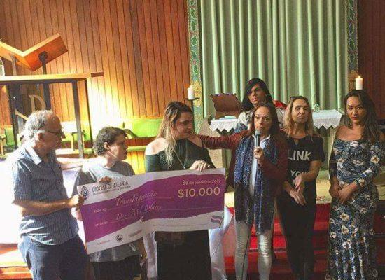 Evento de entrega de Cheque Simbólico na Paróquia Anglicana São Lucas em Copacabana