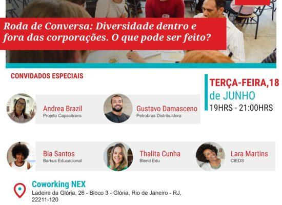 Roda de Conversa sobre diversidade dentro e fora das corporações no Rio de Janeiro